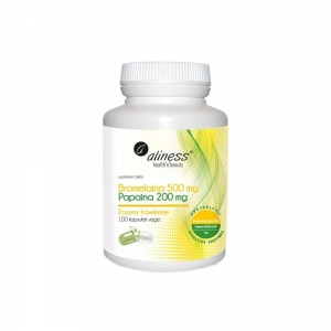 Bromelaina 500mg Papaina 200mg 100kap