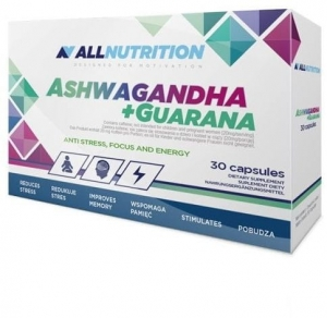 Allnutrition ASHWAGANDHA 300mg + GUARANA 30 kap.