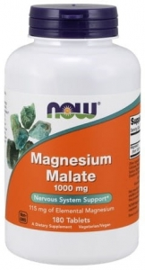 NOW Magnesium Malate (jabłczan magnezu) 1000MG