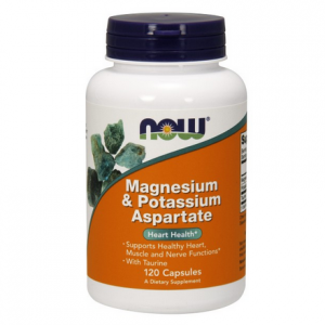 Now foods Magnesium & potas.aspartate 120kaps
