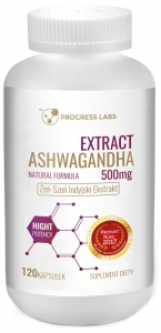 Ashwagandha Extract 500mg 120kap - Progress Labs