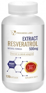WISH Resveratrol Extract 500 mg 120 kaps